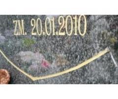 Renowacja liter nagrobnych ,sprzątanie grobów
