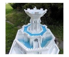 Bezkonkurencyjna technika budowy form 3d za friko - mała architektura z betonu - fontanny ogrodowe.